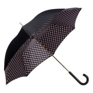 Зонт-трость Pasotti Nero Pois Duo Dossi фото-3