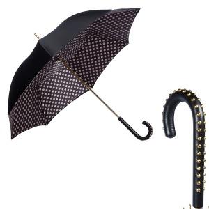 Зонт-трость Pasotti Nero Pois Duo Dossi фото-1