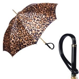 Зонт-трость Pasotti Uno Leo Plastica Brown фото-1