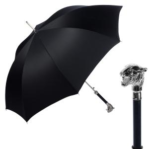Зонт-трость Pasotti Tigre Silver Stripes Black фото-1