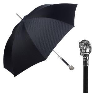 Зонт-Трость Pasotti Horse Silver Codino Black фото-1