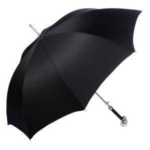 Зонт-трость Pasotti Capo Silver Oxford Black Fodero Anello фото-4