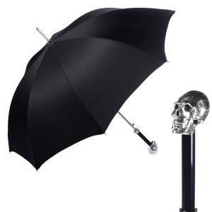 Зонт-трость Pasotti Capo Silver Oxford Black Fodero Anello фото-1