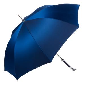 Зонт-трость Pasotti Bracco Silver Oxford Blu  Fodero Anello фото-4