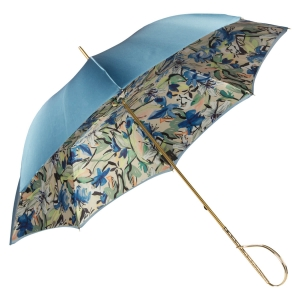 Зонт-трость Pasotti Blu Iris Rapira фото-5