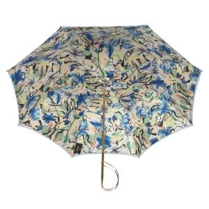 Зонт-трость Pasotti Blu Iris Rapira фото-3