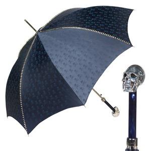 Зонт-Трость Pasotti Capo Silver Picco Sculls Blu фото-1
