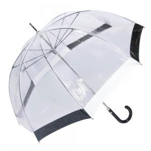 Зонт-Трость M&P C4700-LM Transparent Black/White фото-2