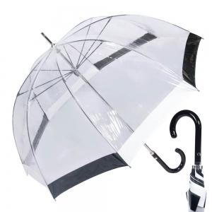 Зонт-Трость M&P C4700-LM Transparent Black/White фото-1