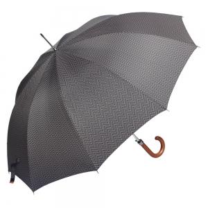 Зонт-трость M&P C176-LA Legno Onda Black фото-5