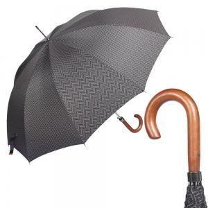 Зонт-трость M&P C176-LA Legno Onda Black фото-1