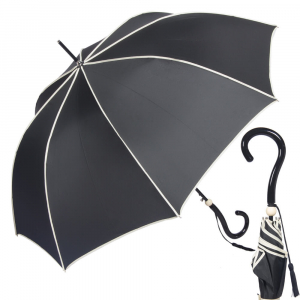 Зонт-Трость Joy Heart J9487-LA Question Black/Beige фото-1