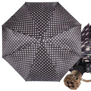 Зонт складной Pasotti Auto Pois Nero/Beige Lux фото-1