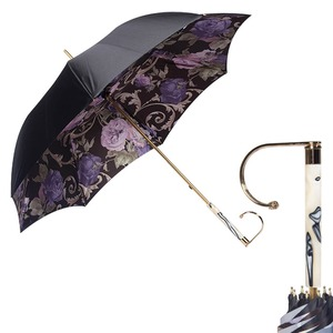 Зонт-Трость Pasotti Nero Palazzo Viola Marble  фото-1