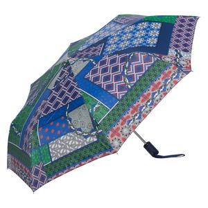 Зонт складной M&P C5865-OC Patchwork Blue фото-2