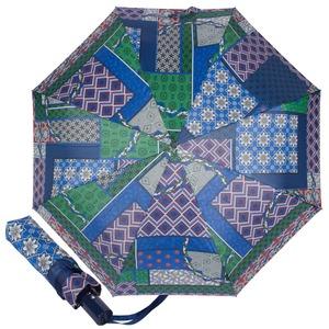 Зонт складной M&P C5865-OC Patchwork Blue фото-1