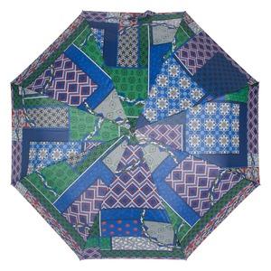 Зонт складной M&P C5865-OC Patchwork Blue фото-3