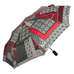 Зонт складной M&P C5865-OC Patchwork Red фото-2