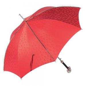 Зонт-трость Pasotti Capo Silver Picco Sculls Rosso фото-3