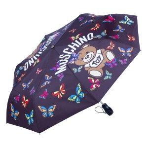 Зонт складной Moschino 8129-OCA Butterfly Bear Black фото-2