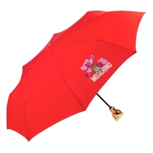 Зонт складной Moschino 8054-OCC Balloons Bear Red фото-2