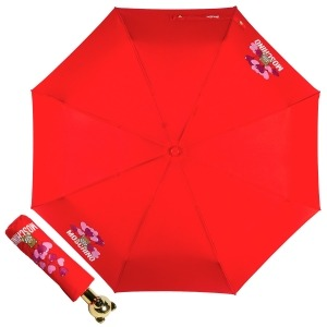 Зонт складной Moschino 8054-OCC Balloons Bear Red фото-1