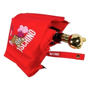 Зонт складной Moschino 8054-OCC Balloons Bear Red фото-4