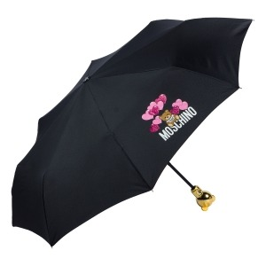 Зонт складной Moschino 8054-OCA Balloons Bear Black фото-2