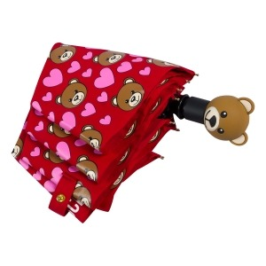 Зонт складной Moschino 8048-OCС Bear Hearts Allover Red фото-4