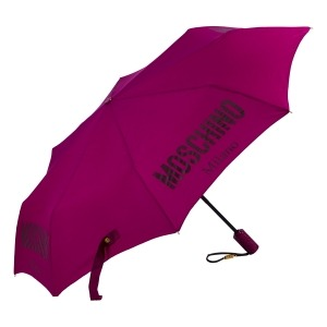 Зонт складной Moschino 8021-OCX New Metal Logo Bordeaux фото-2
