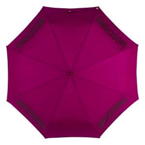 Зонт складной Moschino 8021-OCX New Metal Logo Bordeaux фото-3
