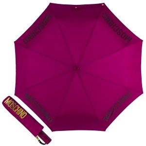 Зонт складной Moschino 8021-OCX New Metal Logo Bordeaux фото-1
