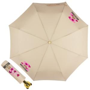 Зонт складной Moschino 8054-OCD Balloons Bear Beige фото-1