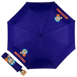 Зонт складной Moschino 8053-OCF US Football Bear Blue фото-1