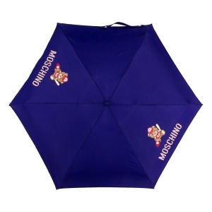 Зонт складной Moschino 8052-SMINF Baseball Bear Blu фото-3