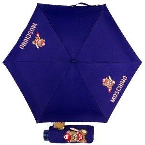 Зонт складной Moschino 8052-SMINF Baseball Bear Blu фото-1