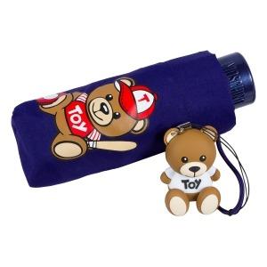 Зонт складной Moschino 8052-SMINF Baseball Bear Blu фото-4