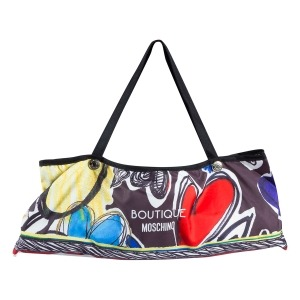Зонт складной Moschino 7450-OCA Painted Hearts Black фото-5