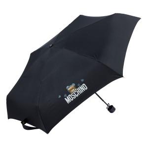 Зонт складной Moschino 8042-SMINIA Shadow Bear Black фото-2