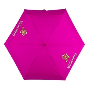 Зонт складной Moschino 8052-SMINIJ Baseball Bear Fuxia фото-3