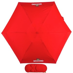 Зонт складной Moschino 8042-SMINIC Shadow Bear Red фото-1
