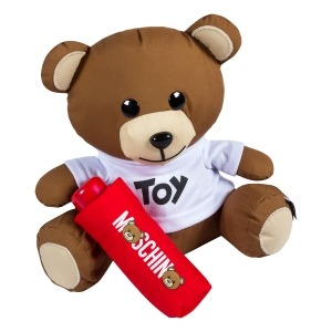 Зонт складной Moschino 8041-SMINIС Toy Teddy Bear Red фото-5