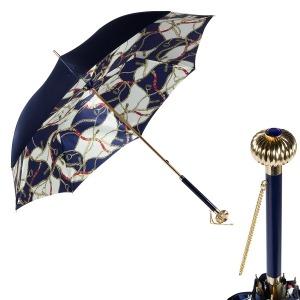 Зонт-трость Pasotti Blu Catena Globe фото-1