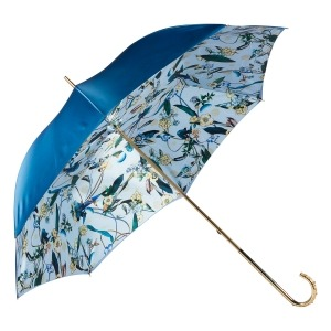 Зонт-трость Pasotti Becolore Blu Tatina Dentell Oro фото-3