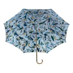 Зонт-трость Pasotti Becolore Blu Tatina Dentell Oro фото-4