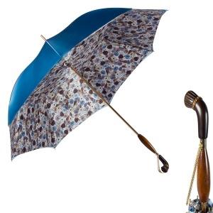Зонт-трость Pasotti Becolore Blu Gato Albeno Swar фото-1