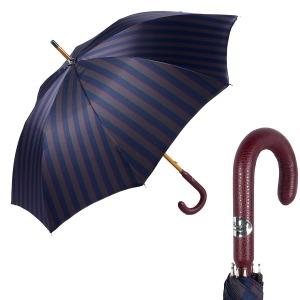Зонт-трость Pasotti Pelle/Legno Alfred Blu фото-1
