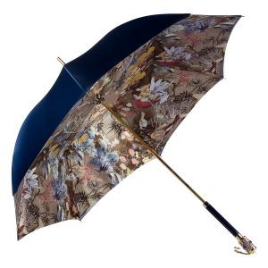 Зонт-трость Pasotti Becolore Blu Paradis Botte фото-3