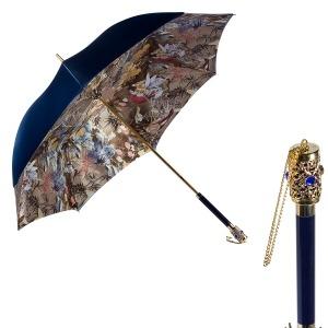 Зонт-трость Pasotti Becolore Blu Paradis Botte фото-1