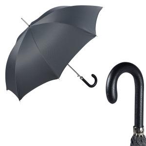 Зонт-трость Pasotti Classic Pelle Chevron Grey фото-1